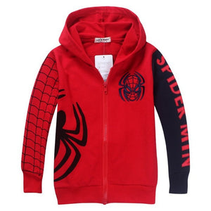 Spiderman embroidered hoodie jacket