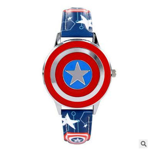 Superhero spiderman Captain America kid clocks