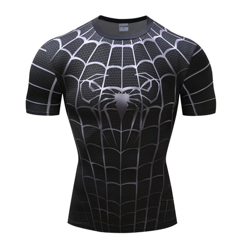 Image of Superhero  Spiderman 3D Compression Print T- shirts