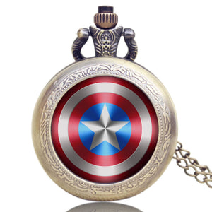 Captain America Watch Necklace Clock Pendant