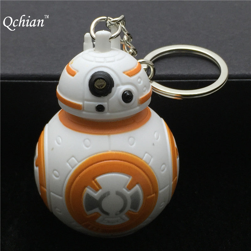 Star Wars The Force Awakens Bb8 Bb-8 R2D2 Droid Robot Led Keychain