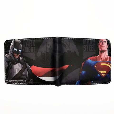 Image of Hero Superman Batman Red Robin The Flash Captain America Black Panther Iron Man  FVIP Comics DC Wallet