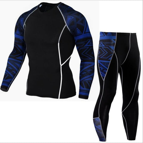 Image of Mens compression pants +T shirts  Fitness Leggings Pants Bottom Men Weight Lifting Bodybuilding Skin Tights Trousers S-XXXL