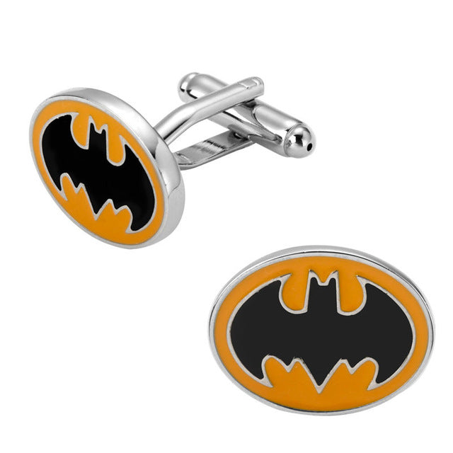 Superman superhero Batman Pacman 007 Cufflinks