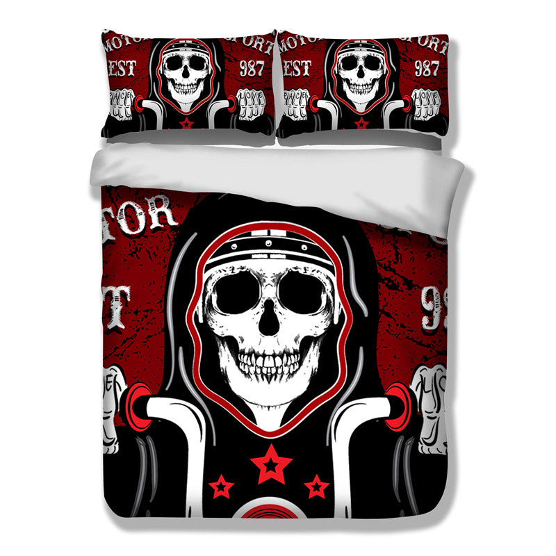 Biker Bedding Set 3 Pcs/Set