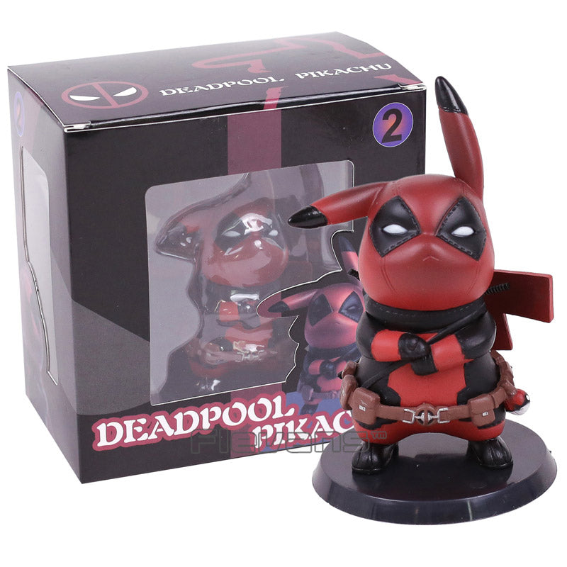 Deadpool Captain America Pikachu Mini PVC Figure Collectible Model Toys Small Size 10cm