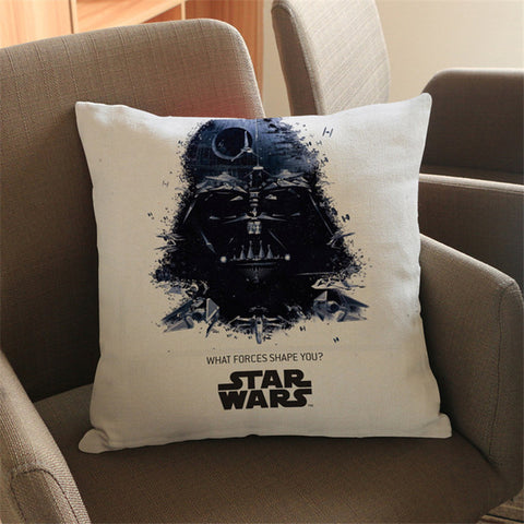 Image of Star Wars cartoon Sofa Throw Pillow