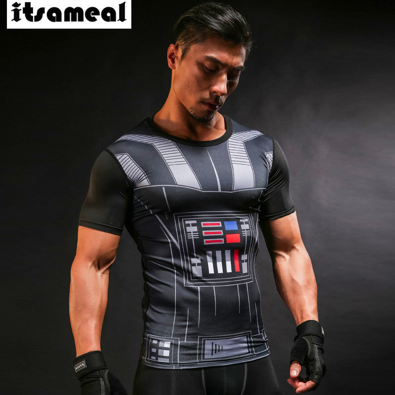 Star wars 3D Printed Compression T-shirt
