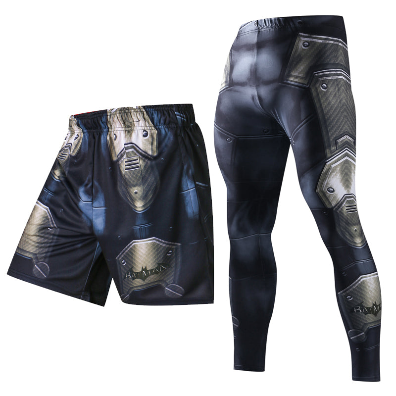 3D Print Men Summer Causal Shorts Men Skinny 3D Pattern Batman Bodybuilding Jogger Fitness Skinny Leggings Trousers