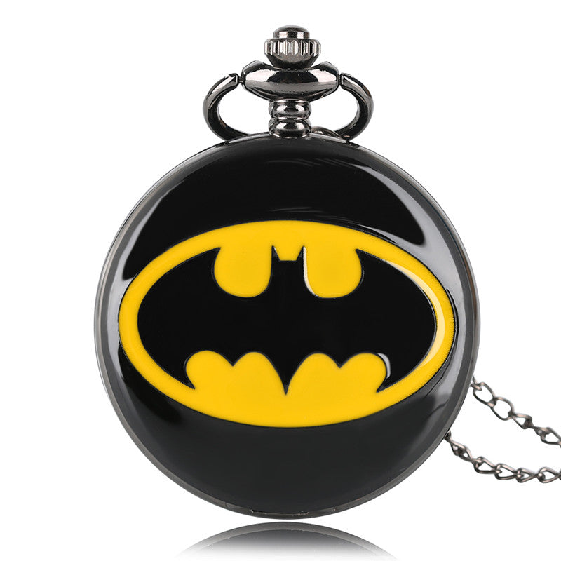 Batman Quartz Watch Necklace Pendant
