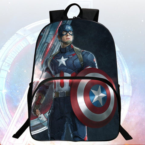 New Fashion Polyester 16-inches Printing Avenger Cartoon Hulk Children Backpack