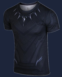 Superhero Black Panther  Captain America Civil War Tee T'Challa T-shirts