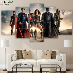 Home Decor Batman Paintings Wall Art 5 Pieces canvas  Posters