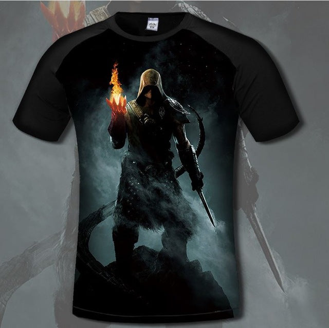 Game Skyrim 3d Print T-shirts