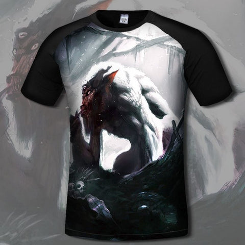 Image of Game Skyrim 3d Print T-shirts