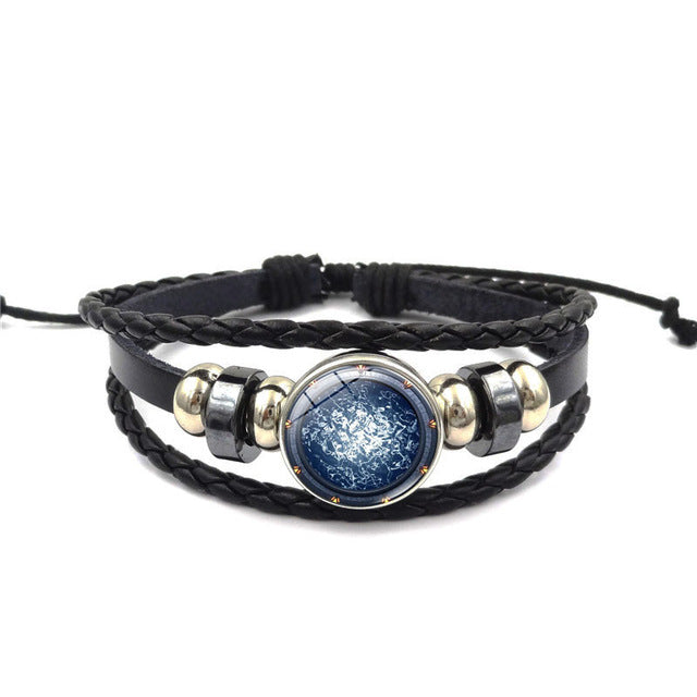 Stargate Atlantis Glass Cabochon Braided Bracelet
