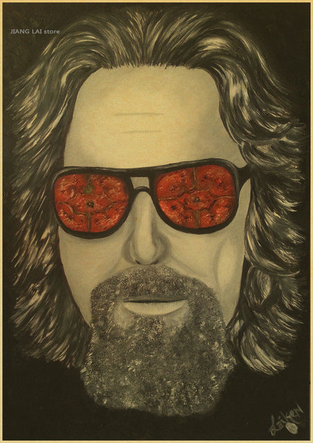 Big Lebowski - Dude Painting Custom FREE SHIPPING Poster Print Wall Sticker