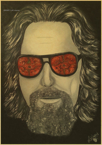 Image of Big Lebowski - Dude Painting Custom FREE SHIPPING Poster Print Wall Sticker