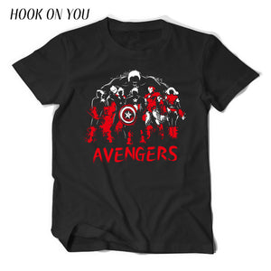 The Avengers  Superhero Spider Superman iron man hulk cotton T-shirt short sleeves