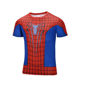 Spiderman superman batman compression 3d printing T-shirt