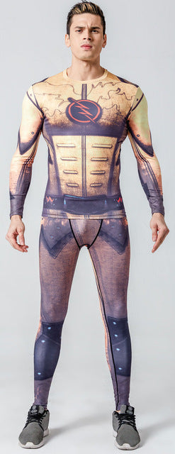 New 3D Winter Soldier Avengers 3 Compression Shirt Men Long Sleeve