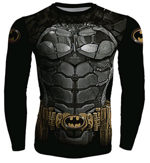 Superheroes Long Sleeve Fitness Shirt