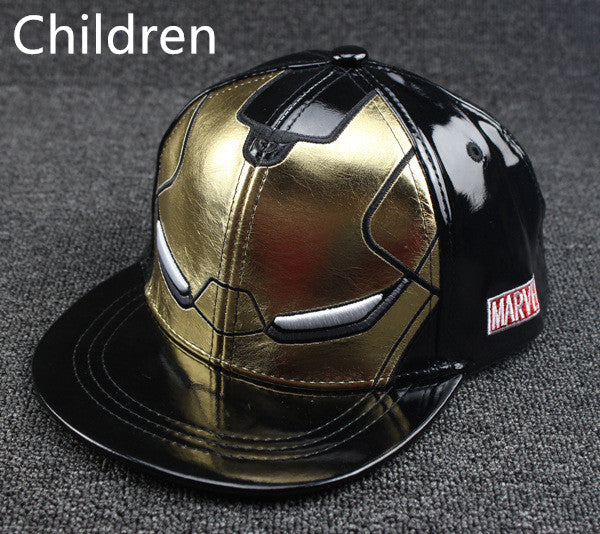 Fall Winter New Iron Man cartoon fashion Snapback hats