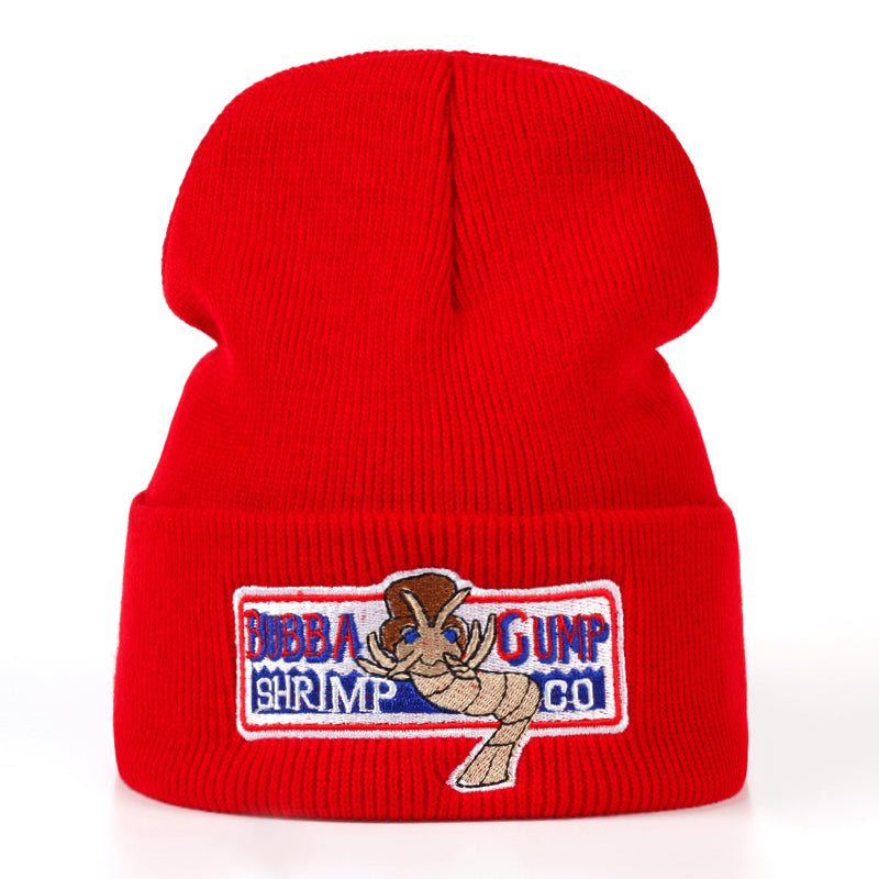 BUBBA GUMP Warm autumn and winter Cotton Red Beanies Caps Hat