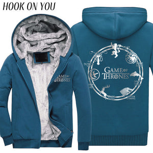 Fashion Game of Thrones Men Winter Thicken Hoodie