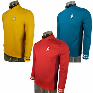 Cosplay  Star Trek Beyond Costumes Red Captain Kirk Uniform