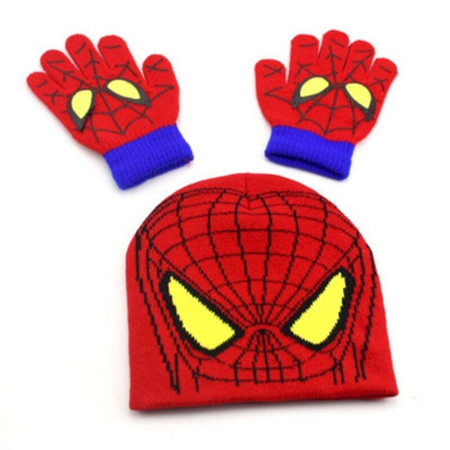 Spider Man Kid Hat Gloves