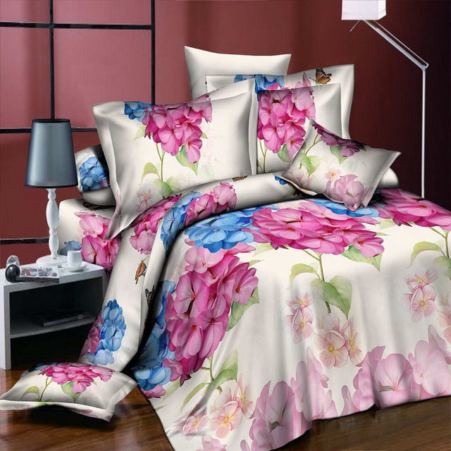 Home Textiles 3D Bedding Sets Leopard Grain Rose Panther Queen 4 Pcs Duvet Cover Bed Sheet Pillowcase Bedclothes