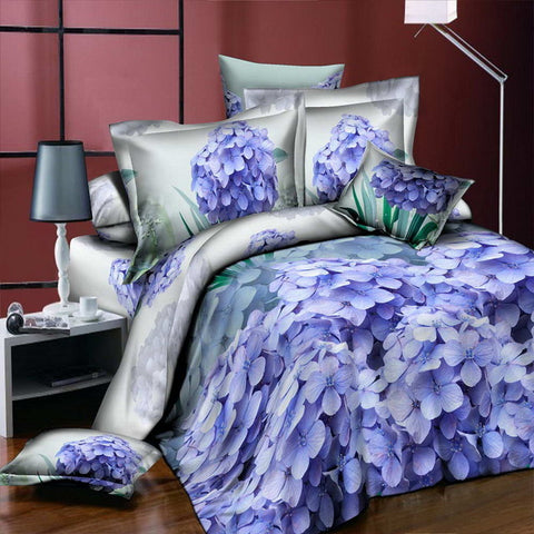 Image of Home Textiles 3D Bedding Sets Leopard Grain Rose Panther Queen 4 Pcs Duvet Cover Bed Sheet Pillowcase Bedclothes