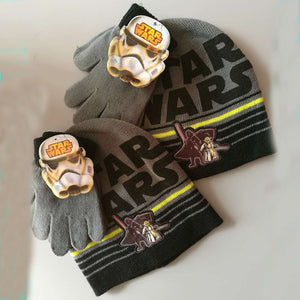 Brand Star Wars Children Kids Boys Knitted Gloves Hats