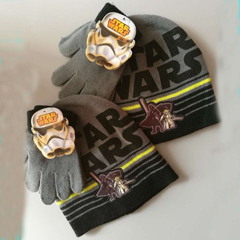 Image of Brand Star Wars Children Kids Boys Knitted Gloves Hats