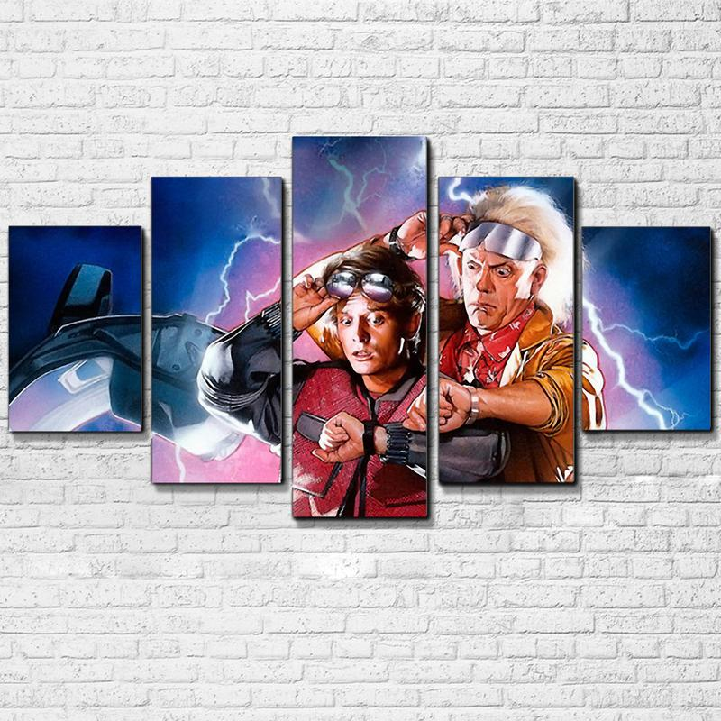 Back To The Future 5 Pieces Canvas poster