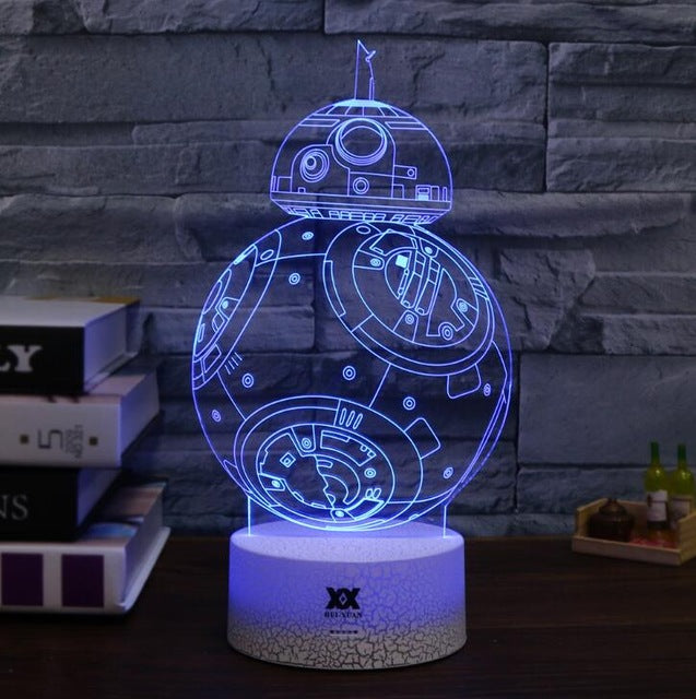 Star Wars Darth Vader  Spider-man Star Trek 3D Night Light