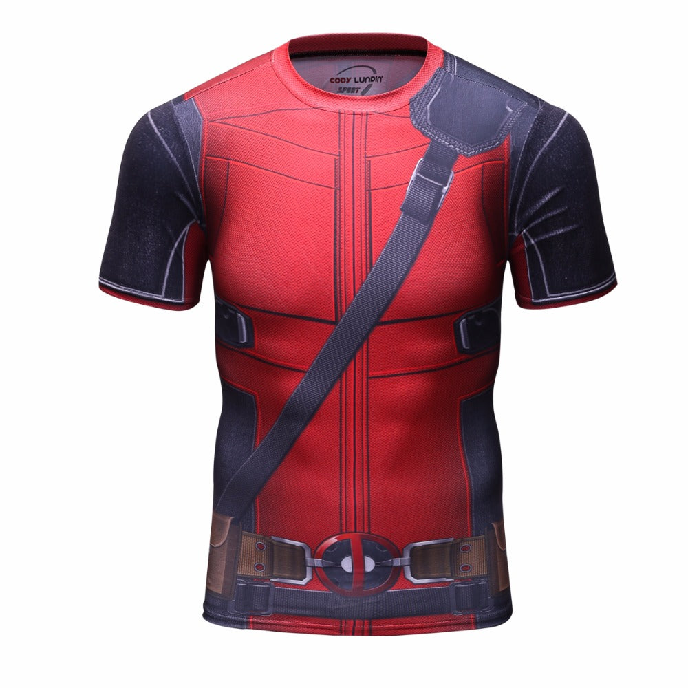 Deadpool Compression 3D Printed T- shirts