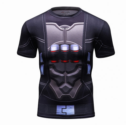 Image of Deadpool Compression 3D Printed T- shirts