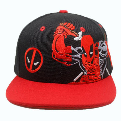 Image of Deadpool red Cosplay Cap