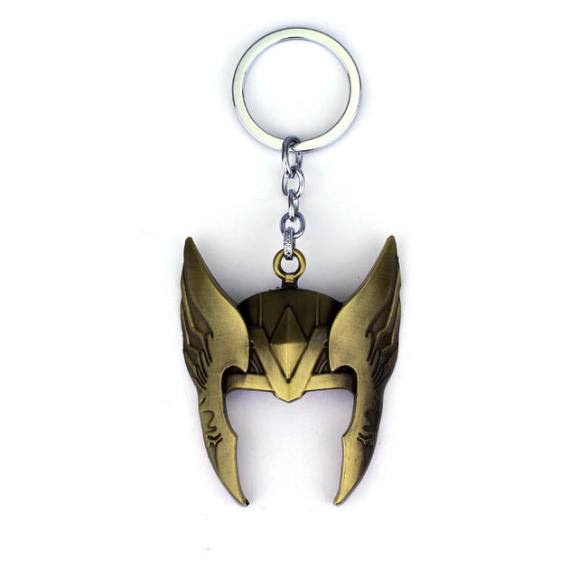 The Avengers Superhero The God of Thunder Thor Mask Helmet Keychain