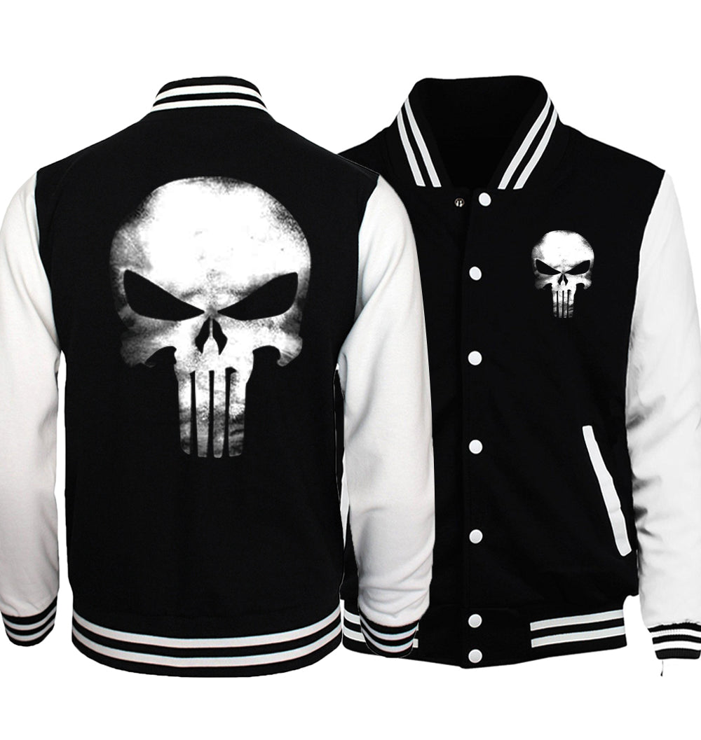 The punisher anime skull print mens baseball