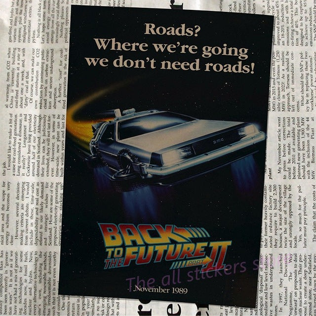Back To The Future Classic Vintage Nostalgic Movie Kraft Paper Poster