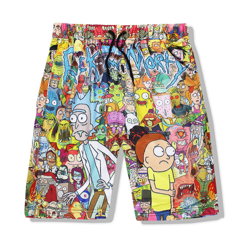 Rick and Morty  Cartoon 3D Print Shorts and tank top