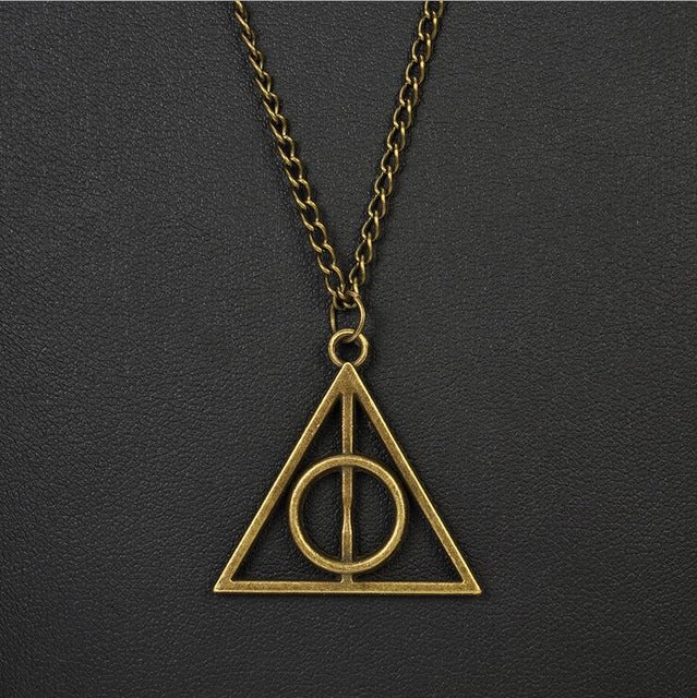 harry potter snitch gold necklace