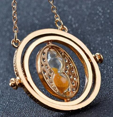 Image of harry potter snitch gold necklace
