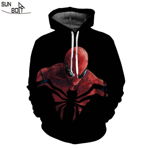 Image of Autumn Winter 3D Spiderman Hoodie