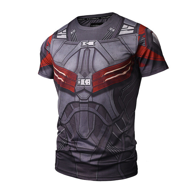Captain America Men's Falcon Compression Shirt 3D Anime Sexy Fitness T shirt