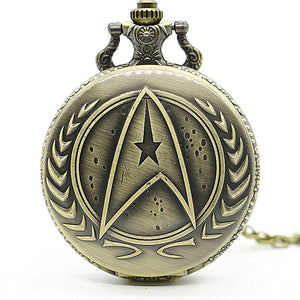 Star trek  Pocket Watch With Necklace