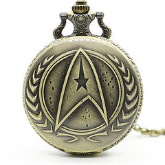 Image of Star trek  Pocket Watch With Necklace